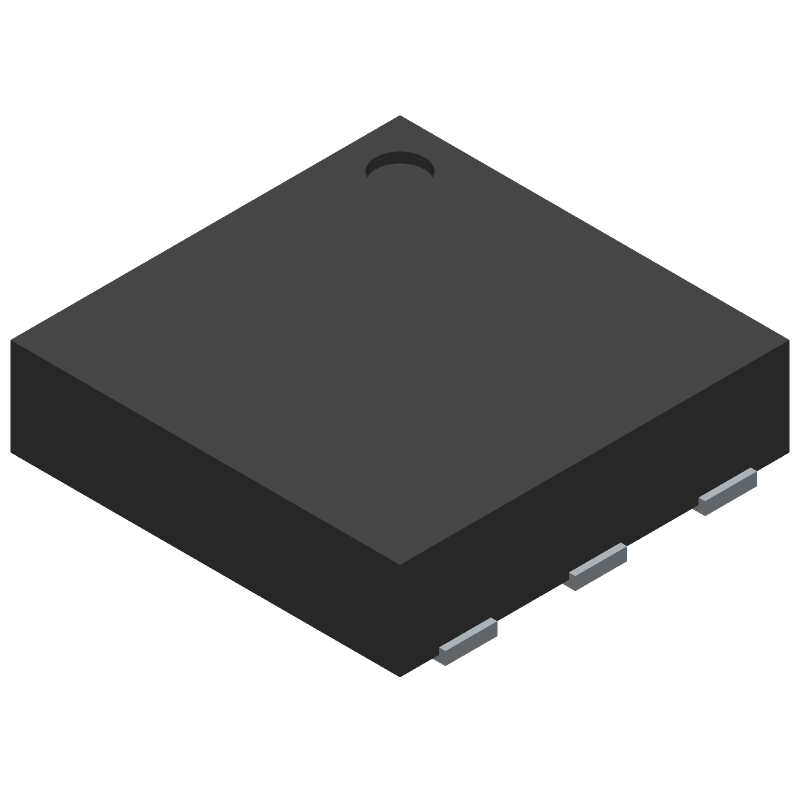 Texas Instruments HDC1080DMBT (Small Outline No-lead) 3D model isometric projection.