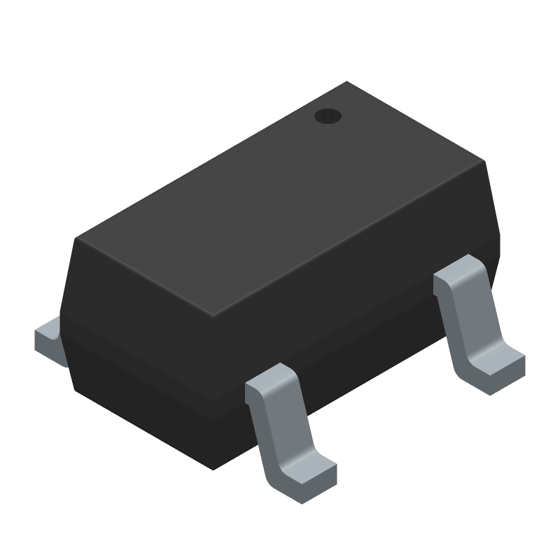 MCP73831T-5ACI/OT - Microchip - 3D model - SOT23 (5-Pin) - 5-Lead (OT) SOT-23