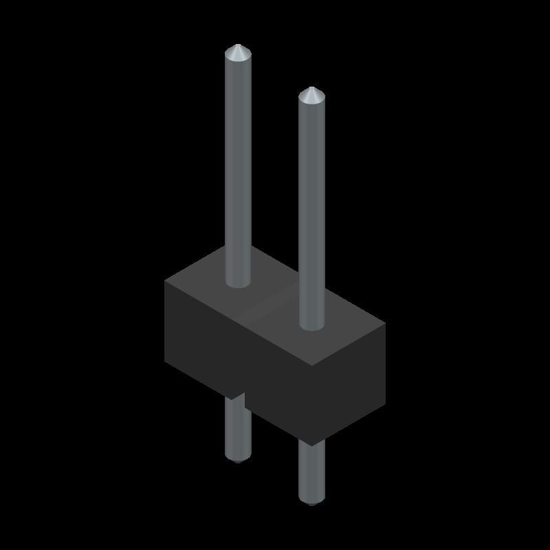 W81102T3825RC - RS Components - 3D model - Header, Vertical - W81102T3825RC-