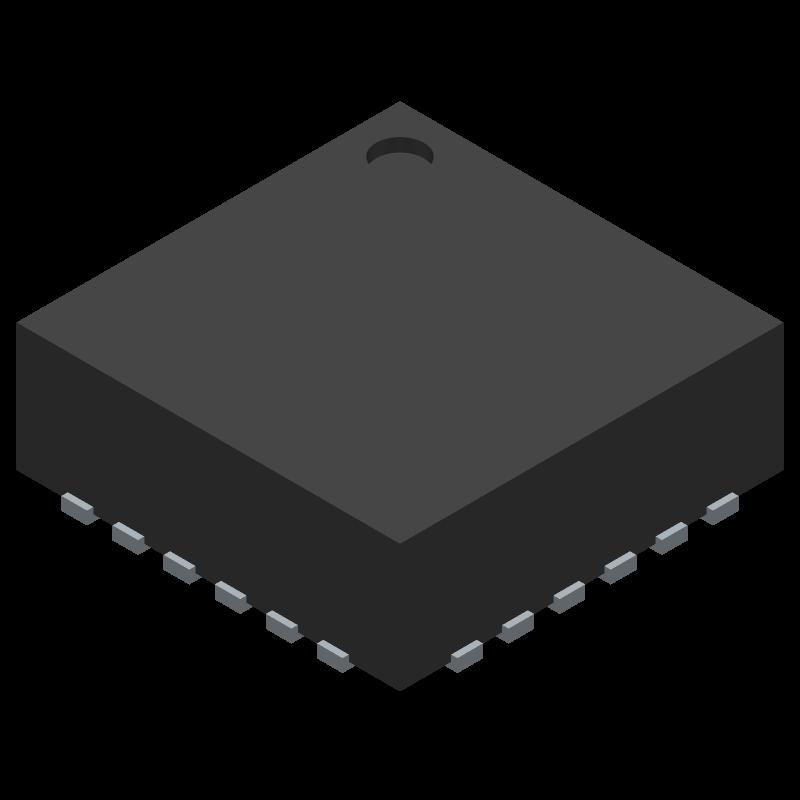 MPU-9250 - INVENSENSE - 3D model - Quad Flat No-Lead - MP92