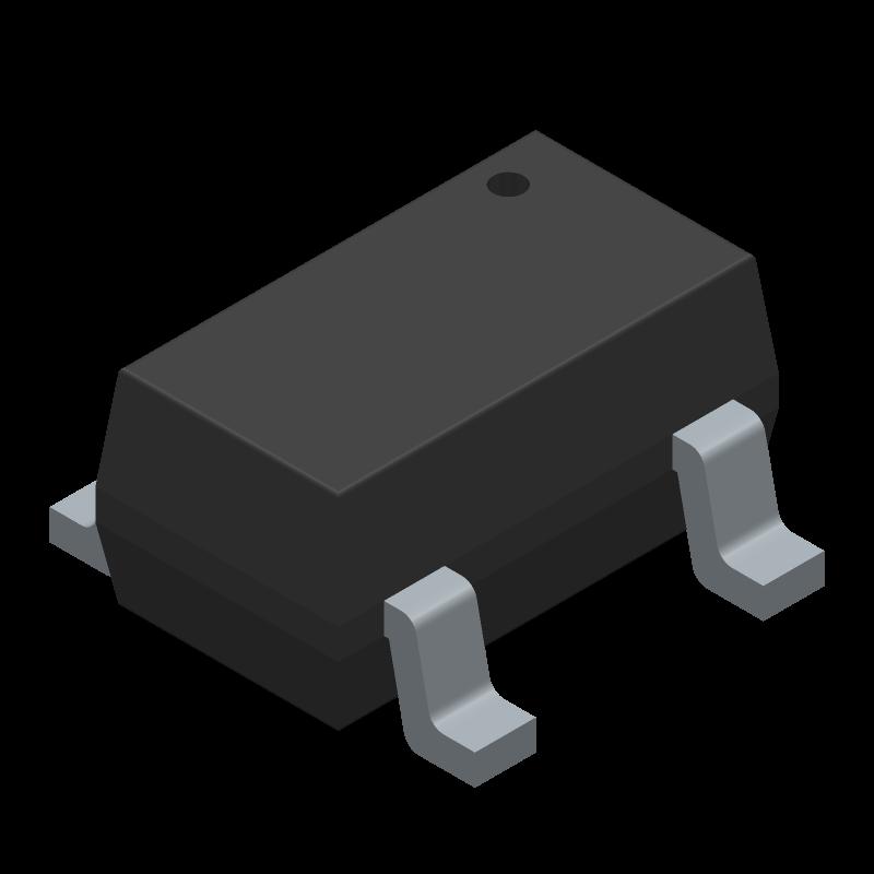SN74LVC1G14DBVR - Texas Instruments - 3D model - SOT23 (5-Pin) - DBV (R-PDSO-G5)