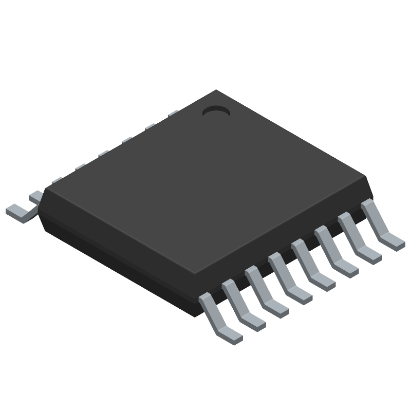 Texas Instruments TCA9534APWR (Small Outline Packages) 3D model isometric projection.