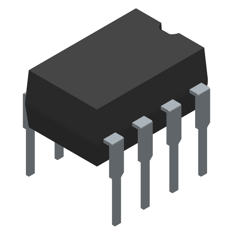LM393N - ON Semiconductor - 3D model - Dual-In-Line Packages - 8-DIP