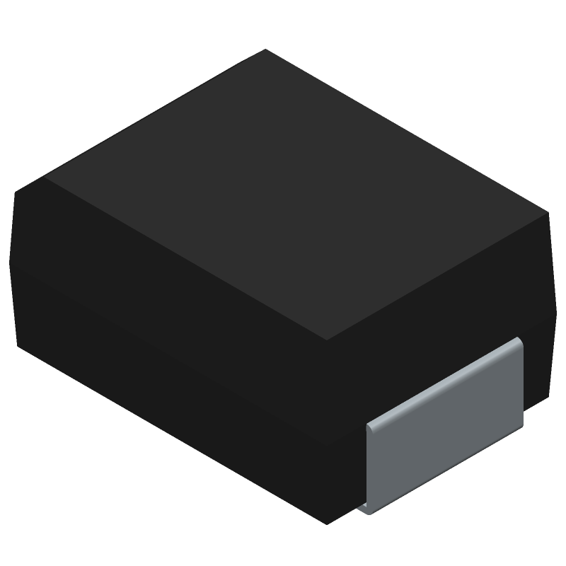 Taiwan Semiconductor SK14B (Diodes Moulded) 3D model isometric projection.