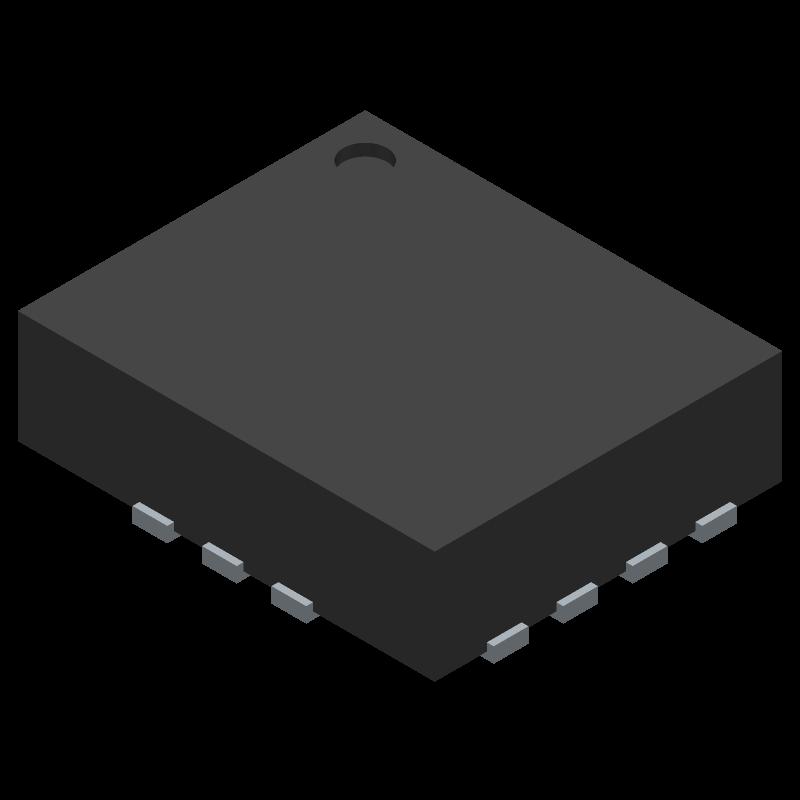 LSM6DS3TR - STMicroelectronics - 3D model - Quad Flat No-Lead - LGA-14