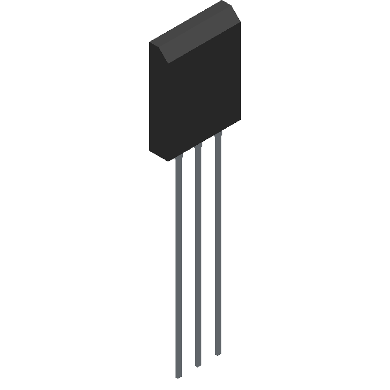 2SC5200OTU - Fairchild Semiconductor - 3D model - Transistor Outline, Vertical - TO-264