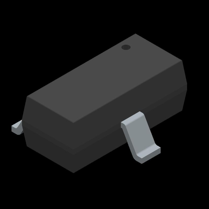 MMBT2222A - Fairchild Semiconductor - 3D model - SOT23 (3-Pin) - SOT-23 3L_2