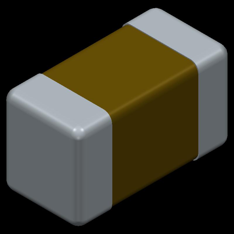 GRM188D71A106MA73D - Murata Electronics - 3D model - Capacitor Chip Non-polarised - GRM188