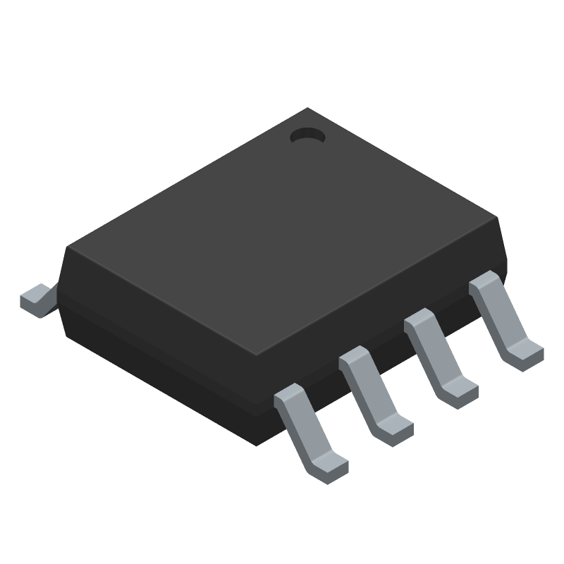Power Integrations LNK364DN-TL (Small Outline Packages) 3D model isometric projection.