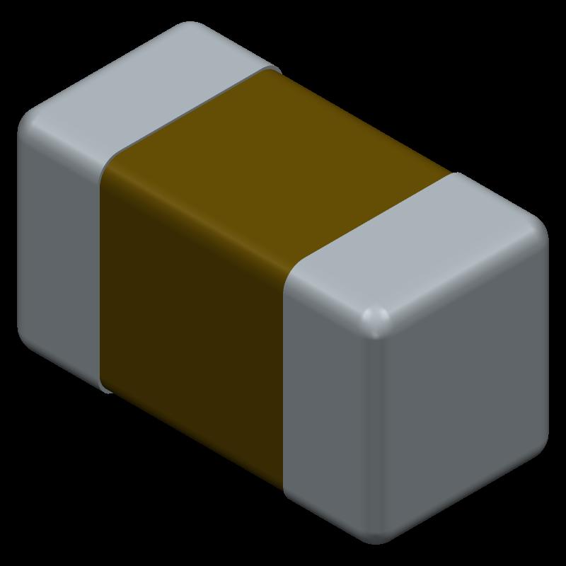 04026D206MAT2A - AVX - 3D model - Capacitor Chip Non-polarised - AVX0402(THICKNESS 0.56MM)