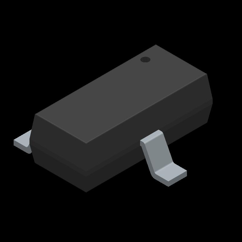 IRLML6344TRPBF - Infineon - 3D model - SOT23 (3-Pin) - SOT23-ren1