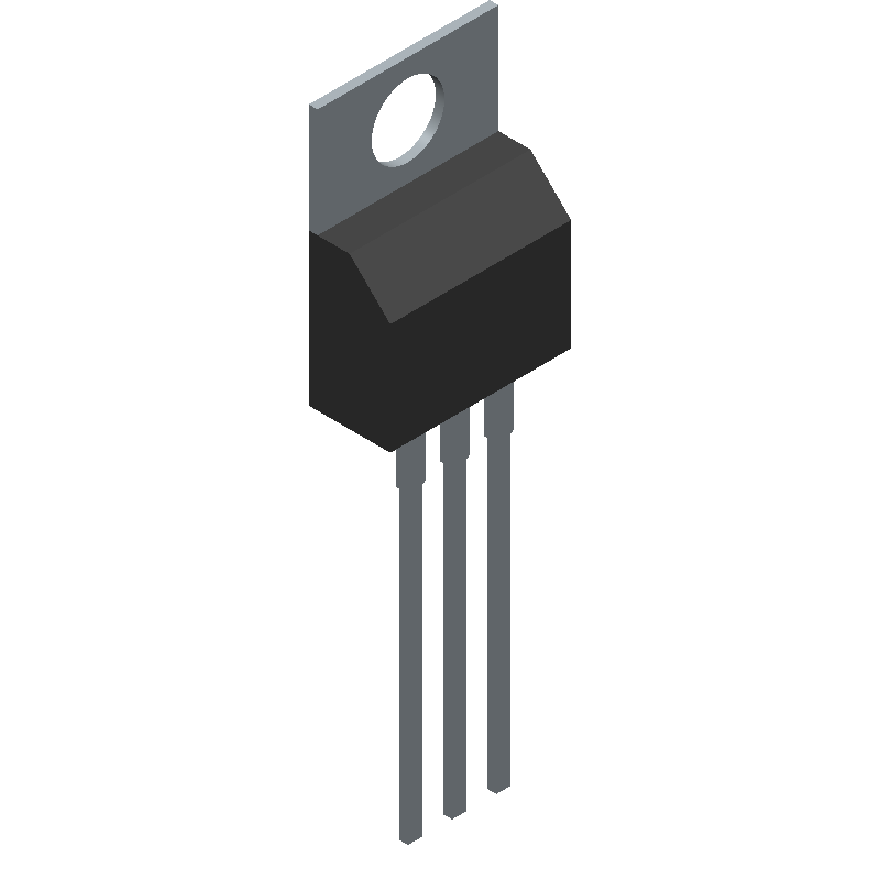 IRF520NPBF - Infineon - 3D model - Transistor Outline, Vertical - TO220AB_2