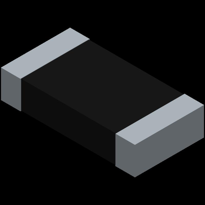 CRCW12061K00JNEAHP - Vishay - 3D model - Resistor Chip - CRCW1206HP