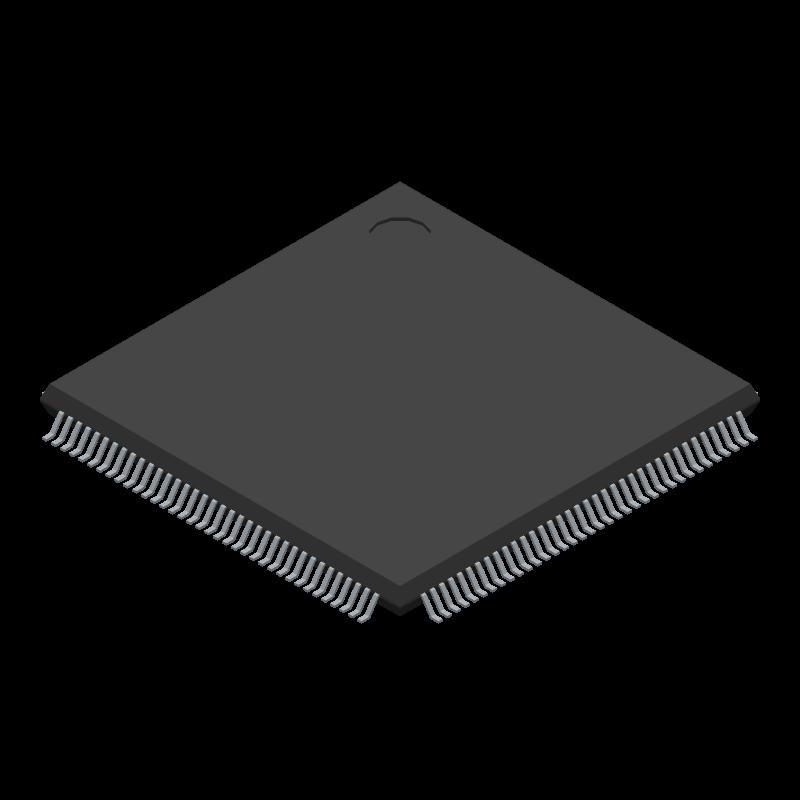 EP4CE6E22C8N - Intel - 3D model - Quad Flat Packages - EQFP (A:1.65 - D2:4.00)