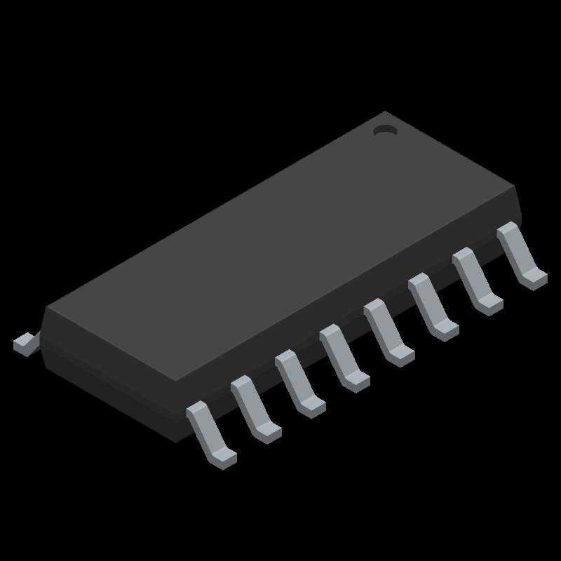 CD4017BM96 - Texas Instruments - 3D model - Small Outline Packages - CD4017BM96-1