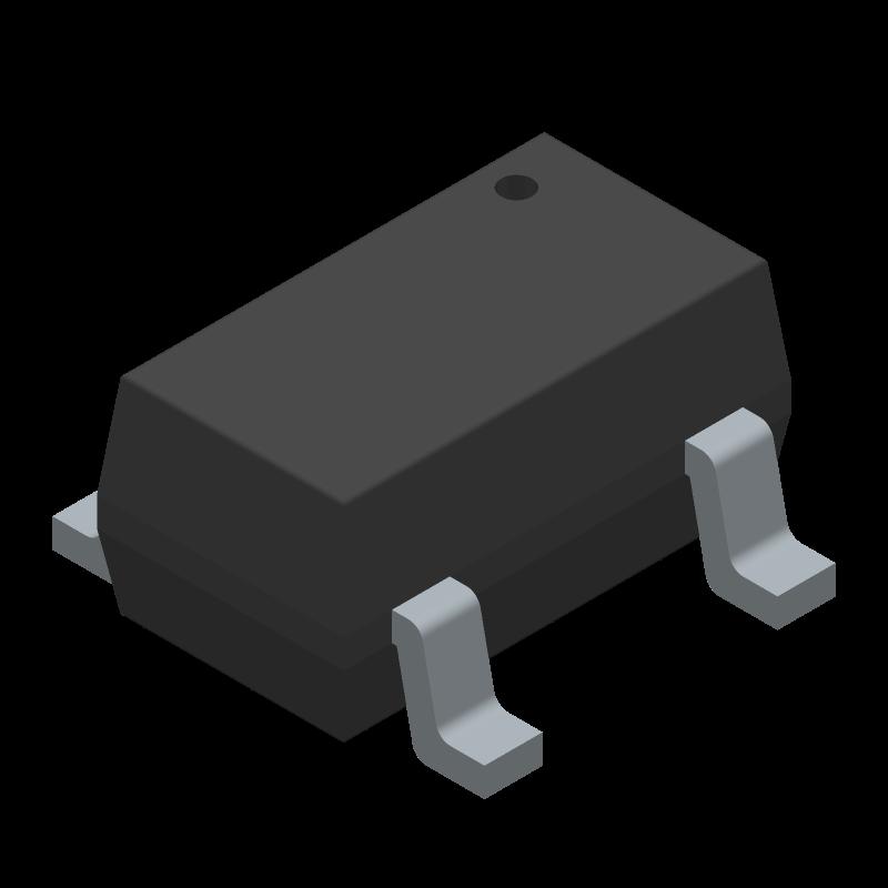 MIC5504-3.3YM5-TR - Microchip - 3D model - SOT23 (5-Pin) - MIC5504-3.3YM5-TR-1