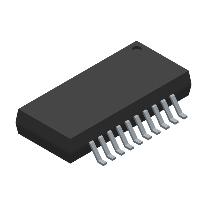 ADUM7640CRQZ - Analog Devices - 3D model - Small Outline Packages - RQ-20 (QSOP)