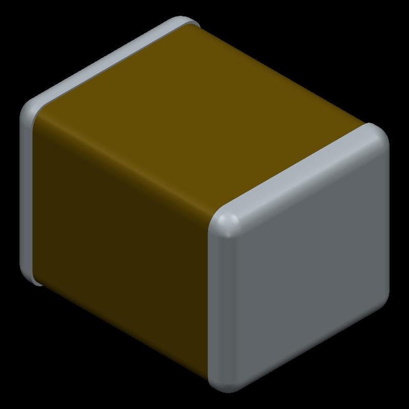 C3225X7R1N106K250AC - TDK - 3D model - Capacitor Chip Non-polarised - C3225 [EIA CC1210] Thickness 2.5