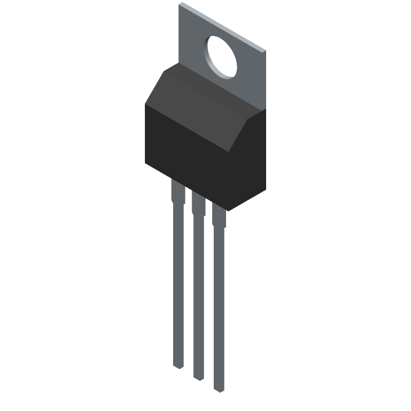 IRL540NPBF - Infineon - 3D model - Transistor Outline, Vertical - TO-220AB PACKAGE