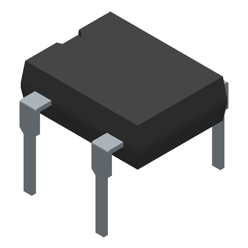 DF01M - Diodes Inc. - 3D model - Dual-In-Line Packages - MDIP 4L