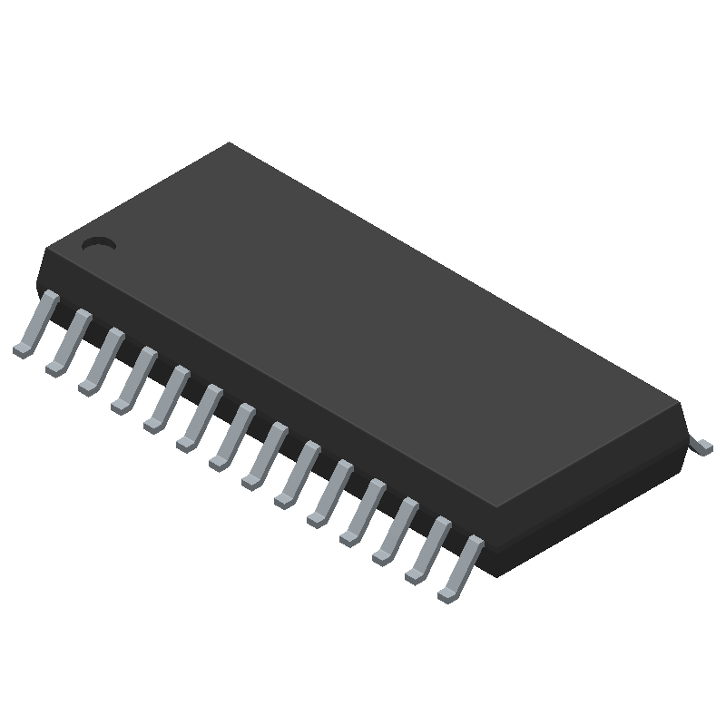 IR2132SPbF - Infineon - 3D model - Small Outline Packages - 28-Lead SOIC (wide body)