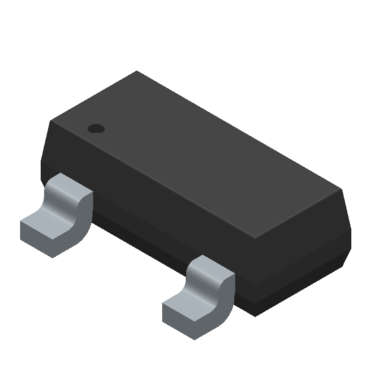 AZ23C5V6-7-F - Diodes Inc. - 3D model - SOT23 (3-Pin) - DIODES INC SOT23