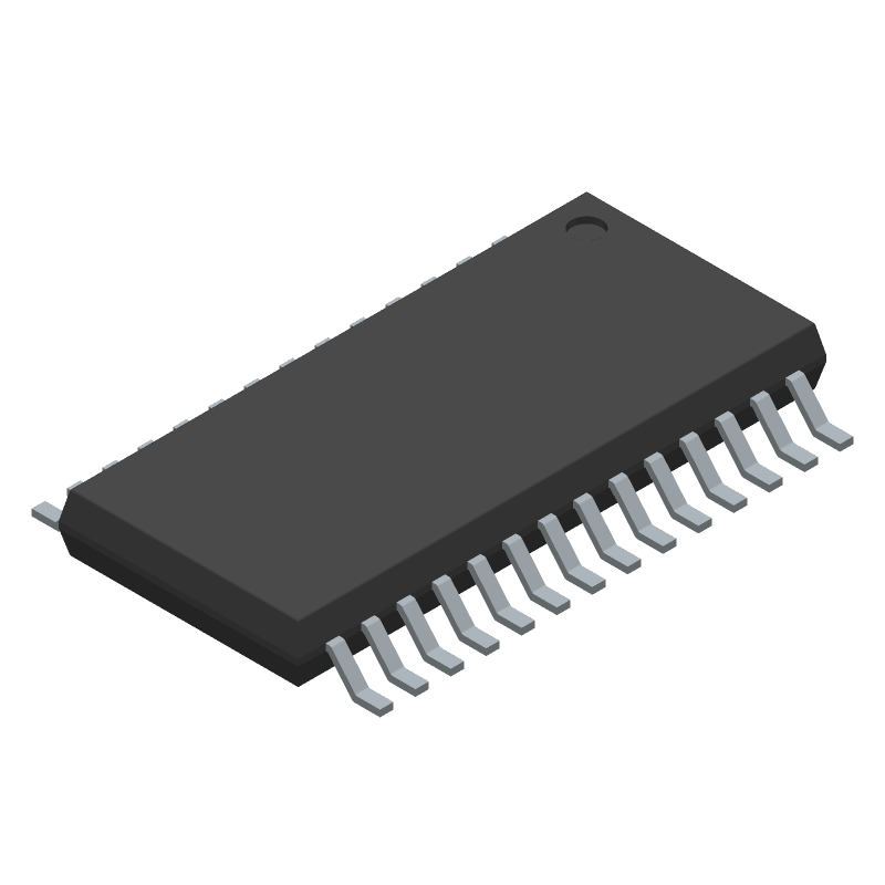 Texas Instruments DRV8825PWPR (Small Outline Packages) 3D model isometric projection.