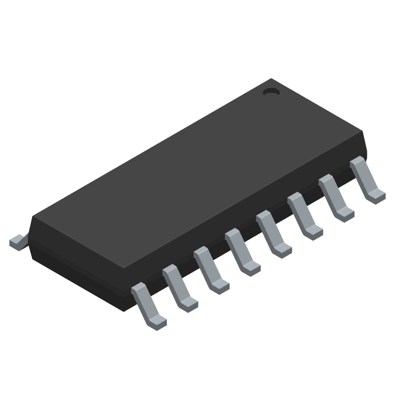 AD8801ARZ - Analog Devices - 3D model - Small Outline Packages - R-16 (SOIC)