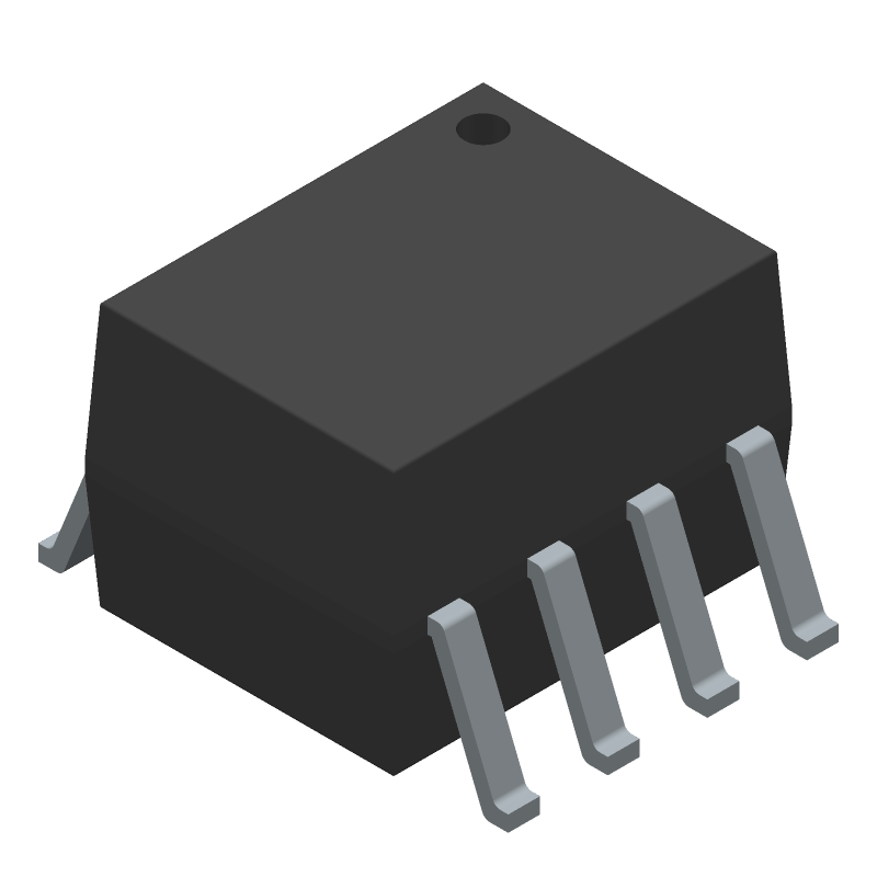 Avago Technologies ACPL-064L-060E (Small Outline Packages) 3D model isometric projection.