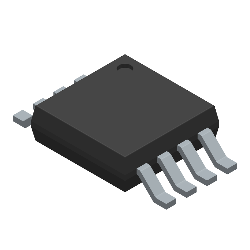 LM386MMX-1/NOPB - Texas Instruments - 3D model - Small Outline Packages - DGK (S-PDSO-G8)