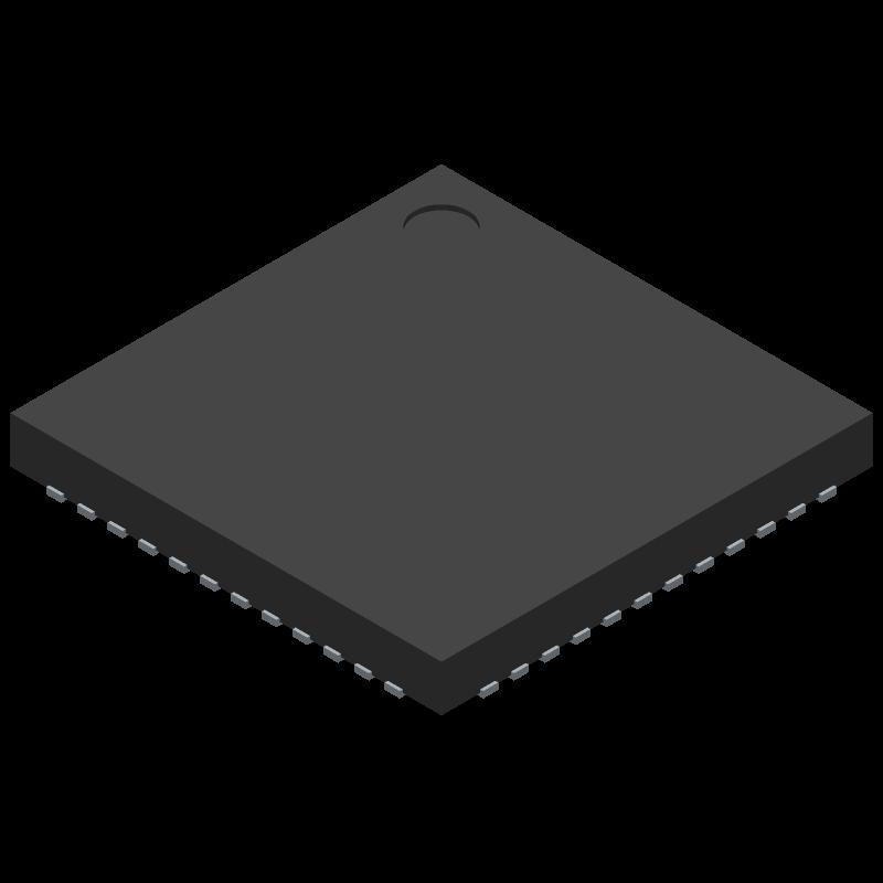 ADP5052ACPZ-R7 - Analog Devices - 3D model - Quad Flat No-Lead - CP-48-13 (LFCSP)