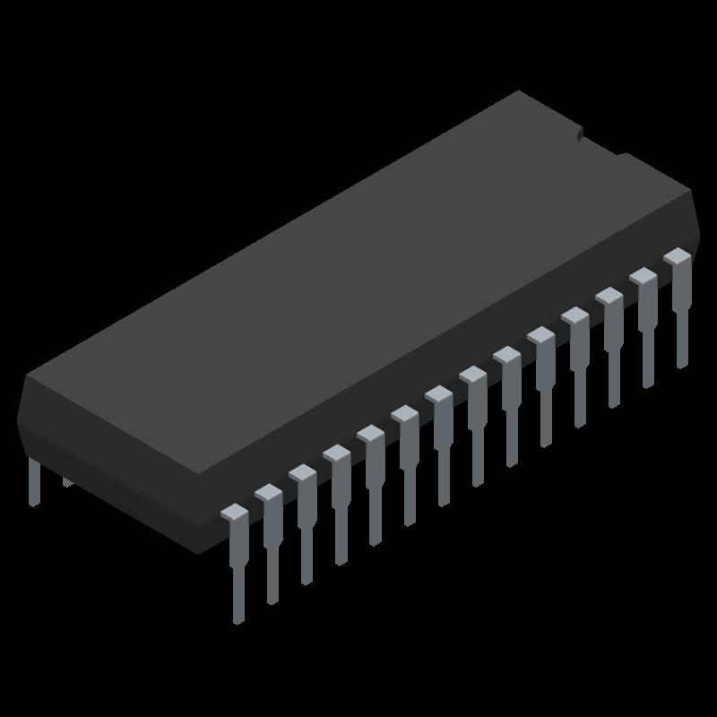 IR2130PBF - Infineon - 3D model - Dual-In-Line Packages - 28-Lead PDIP (wide body)