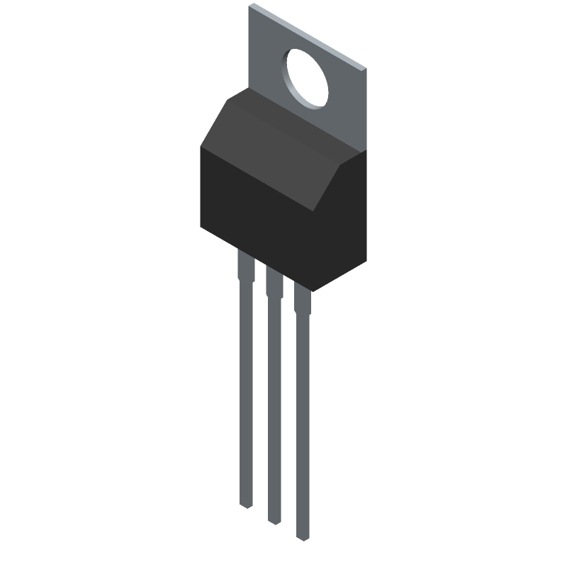 IRFZ44NPBF - Infineon - 3D model - Transistor Outline, Vertical - TO-220AB