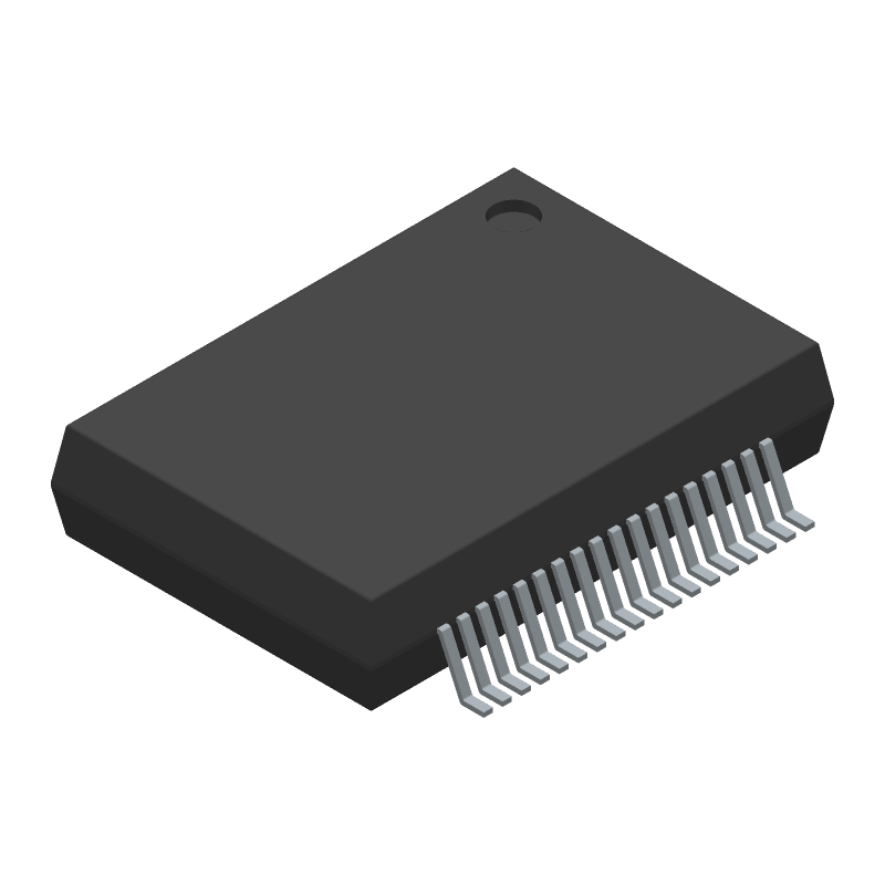 DRV8432DKDR - Texas Instruments - 3D model - Small Outline Packages - DKD (R-PDSO-G36)