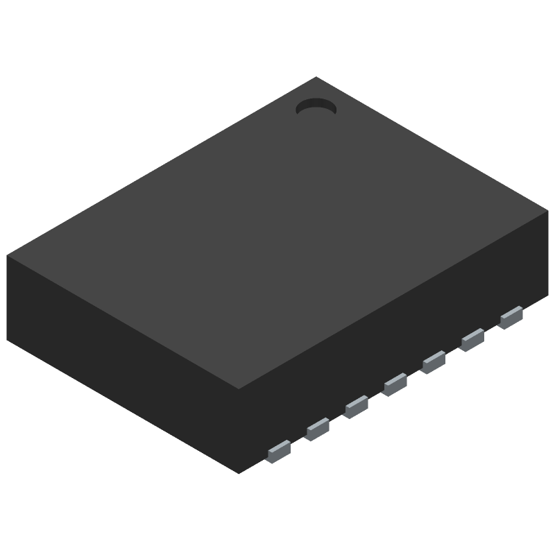 Texas Instruments TPS63020DSJR (Small Outline No-lead) 3D model isometric projection.