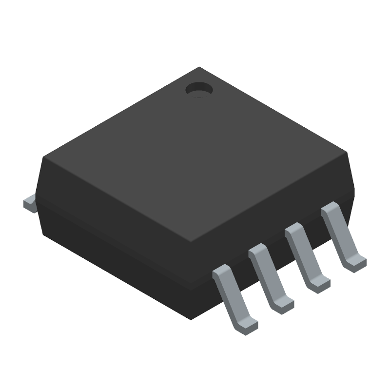Texas Instruments TXS0102DCTR (Small Outline Packages) 3D model isometric projection.