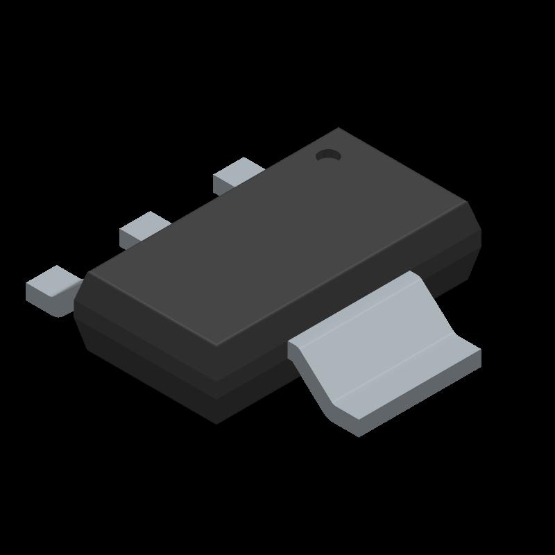 UA78M05CDCYRG3 - Texas Instruments - 3D model - SOT223 (3-Pin) - SOT-223-4-1