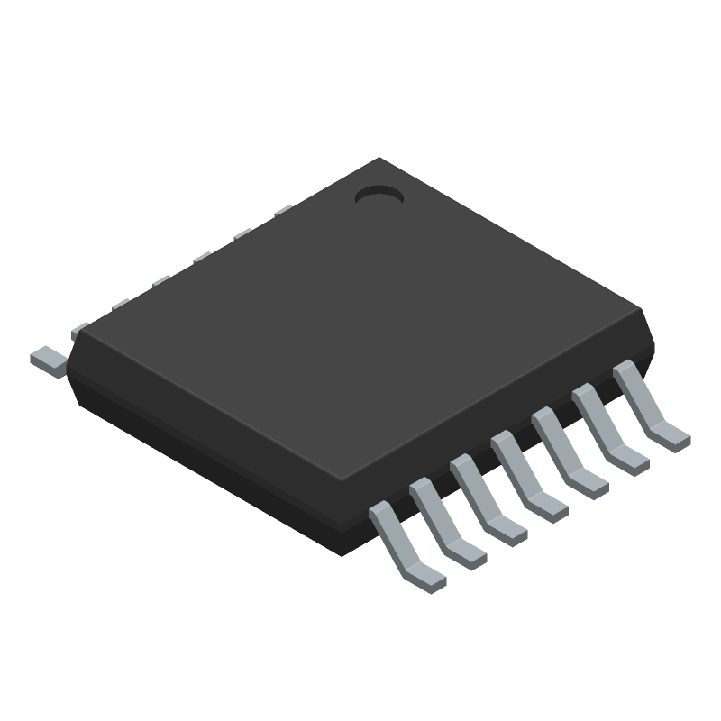 AD8608ARUZ-REEL - Analog Devices - 3D model - Small Outline Packages - RU-14 (TSSOP)