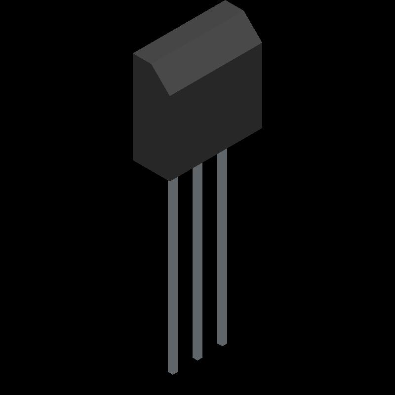 3290W-1-502 - Bourns - 3D model - Transistor Outline, Vertical - 3310Y-0 0 1-103L