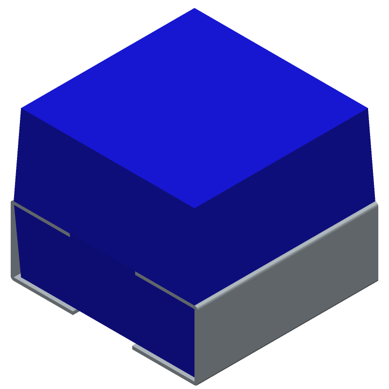 Bourns SDR0604-8R2ML (Inductors Precision Moulded) 3D model isometric projection.