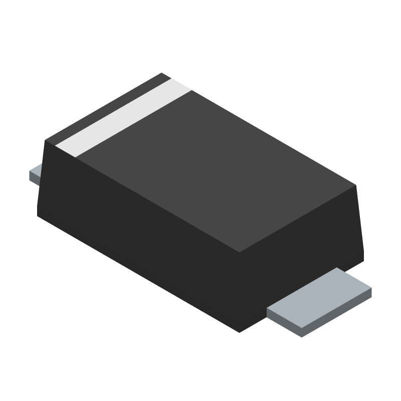 DZ2W05100L - Panasonic - 3D model - Small Outline Diode Flat Lead - Mini2-F3-B