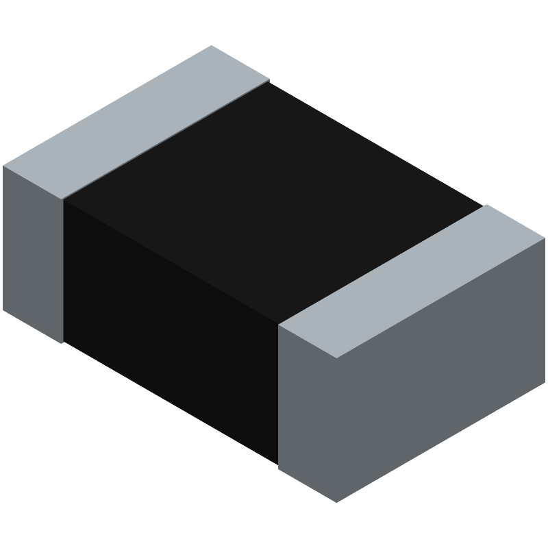 Panasonic ERJP6WF1303V (Resistor Chip) 3D model isometric projection.