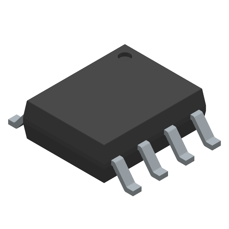 Texas Instruments TPS5430DDAR (Small Outline Packages) 3D model isometric projection.