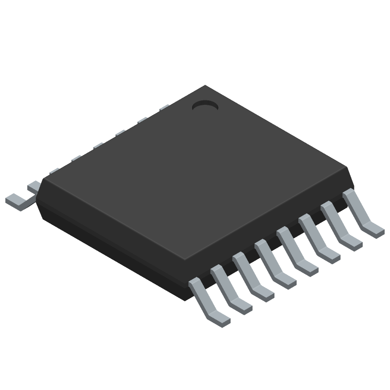 AD5695RARUZ - Analog Devices - 3D model - Small Outline Packages - RU-16 (TSSOP)