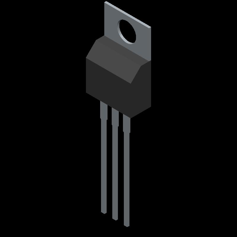 IPP029N06N - Infineon - 3D model - Transistor Outline, Vertical - TO220-3