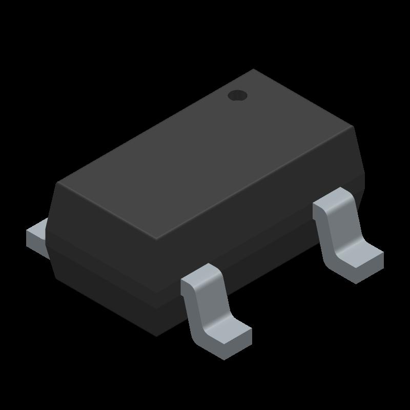 AP7331-33WG-7 - Diodes Inc. - 3D model - SOT23 (5-Pin) - AP7331 300MA