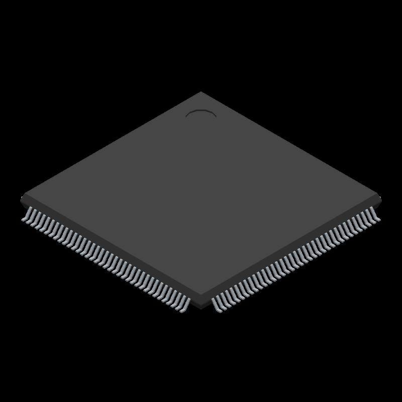STM32F103ZET6 - STMicroelectronics - 3D model - Quad Flat Packages - ST LPQF-144