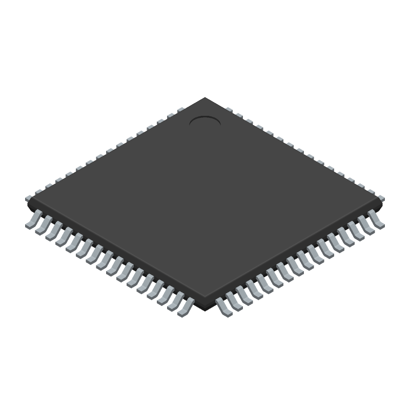ATMEGA128A-AU - Microchip - 3D model - Quad Flat Packages - 64A - 64-Lead(TQFP)