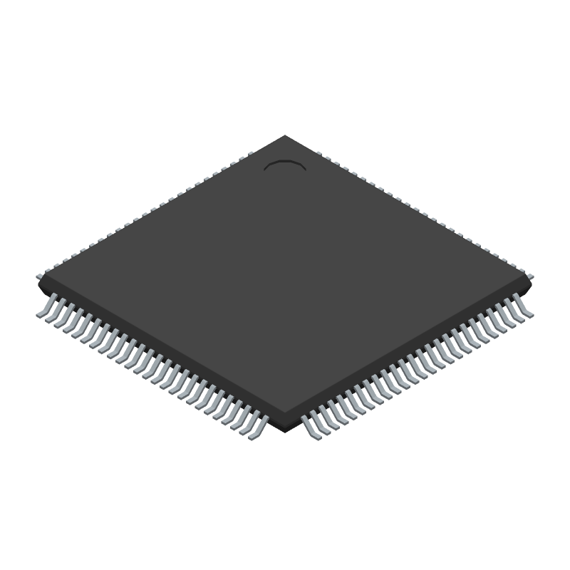 Intel EPM570T100I5N (Quad Flat Packages) 3D model isometric projection.