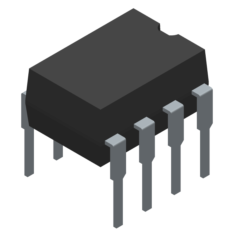 MCP6281-E/P - Microchip - 3D model - Dual-In-Line Packages - MCP6281